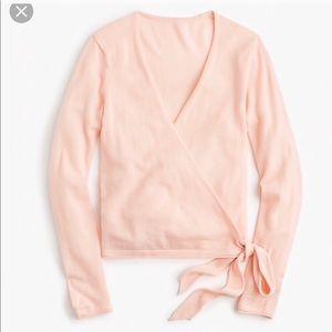 {j crew} wrap sweater